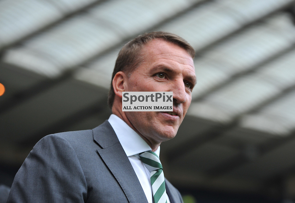 Celtic Manager Brendan Rodgers walks out onto the pitch ahead of the match between Rangers v Celtic, Betfred Cup semi-final, Hampden Park, Sunday 23 October 2016, (c) Angie Isac | SportPix.org.uk