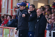 Fleetwood Town Manager Joey Barton gives instructions to his players during the EFL Sky Bet League 1 match between Accrington Stanley and Fleetwood Town at the Fraser Eagle Stadium, Accrington, England on 30 March 2019.