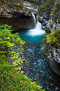 Cascade in Johnston Canyon, Banff National Park, Alberta, Canada