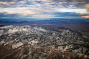 Aerial View of the Mountains Outside of Las Vegas