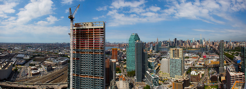 New construction can be seen rising over Long Island City, NY.