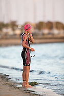 Michelle Wu (AUS), February 9, 2014 - Triathlon : Geelong Ironman 70.3, Eastern Beach Precinct, Geelong, Victoria, Australia. Credit: Lucas Wroe