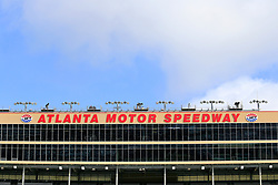 February 22, 2019 - Hampton, GA, U.S. - HAMPTON, GA - FEBRUARY 22: After nearly a week of rain, blue skies open up prior to first practice for the MENCS Folds of Honor QuikTrip 500 race on February 22, 2019 at the Atlanta Motor Speedway in Hampton, GA.  (Photo by David John Griffin/Icon Sportswire) (Credit Image: © David J. Griffin/Icon SMI via ZUMA Press)