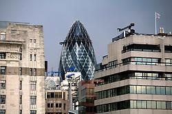 UK ENGLAND LONDON 12MAY10 - General view of the 'Gherkin' a famous London landmark, seen from London Bridge...jre/Photo by Jiri Rezac..© Jiri Rezac 2010