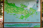 Map of Mljet Island National Park, Dalmatia, Croatia