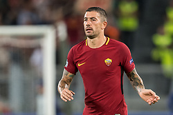 Aleksandar Kolarov of AS Roma during the UEFA Champions League group C match match between AS Roma and Atletico Madrid on September 12, 2017 at the Stadio Olimpico in Rome, Italy.