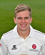 Head shot of Ollie Sale of Somerset during the 2019 media day at Somerset County Cricket Club at the Cooper Associates County Ground, Taunton, United Kingdom on 2 April 2019.