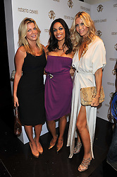 Left to right, STEPHANIE DORRANCE, ROSARIO DAWSON and MELISSA ODABASH at a party hosted by Roberto Cavalli to celebrate his new Boutique's opening at 22 Sloane Street, London followed by a party at Battersea Power Station, London SW8 on 17th September 2011.