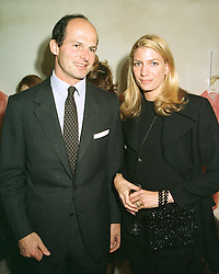 COUNT & COUNTESS RICCARDO PAVONCELLI at a party in London on 7th May 1997.LYE 30