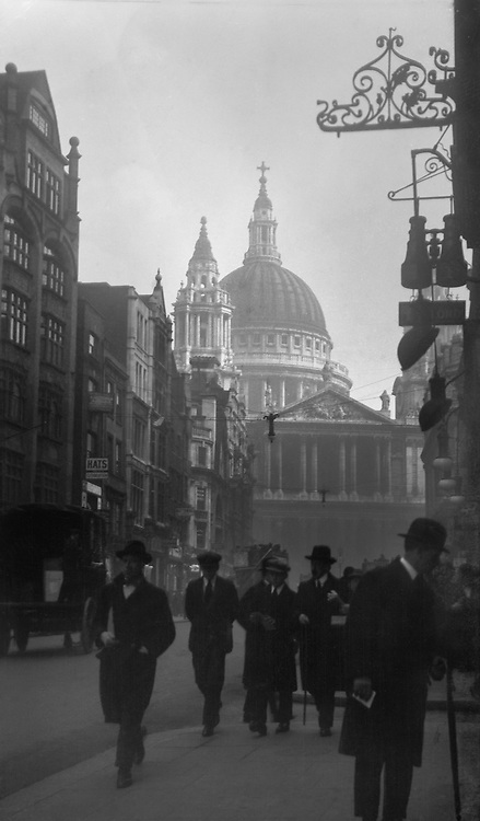 St. Paul's Cathedral from Ludgate Hill, London, 1918