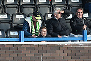 Forest Green Rovers manager, Mark Cooper watches from the stands during the EFL Sky Bet League 2 match between Macclesfield Town and Forest Green Rovers at Moss Rose, Macclesfield, United Kingdom on 29 September 2018.