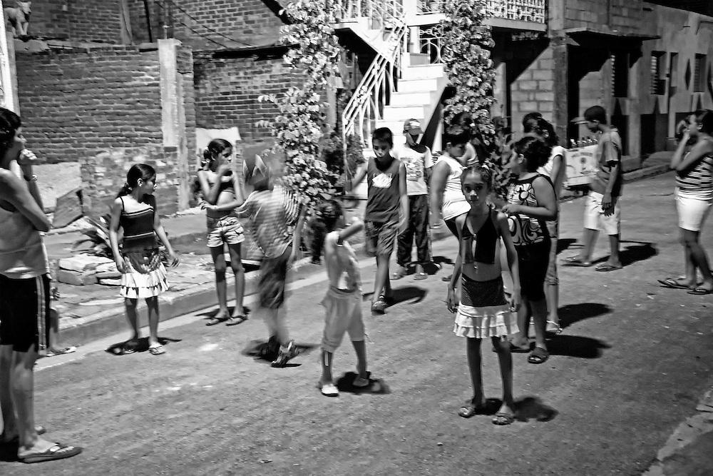 Children in the street in Bayamo, Granma, Cuba.