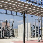 Centrale elettrica Terna di Piossasco (TO) avvio cantiere nuova linea elettrica di collegamento Italia-Francia, denominata 'Piemonte-Savoia'.