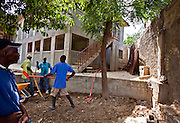 """After nearly losing everything to the flood, the campus of the Presbyterian Mission in Haiti, a church-planting and school-building ministry, is not only being repaired but also constructing an orphanage. President of PMH Charles Amity thanks God that although he lost most of his buildings and vehicles, his life and the lives of his family members were saved.  """"With the help of friends and churches, we were able to rebuild one house and repair three others for families,"""" said Amity. """"We helped people to cover the funeral expenses of loved ones that passed away in the flood and we provided counseling for the community. In addition, we provided free health care for the whole community with the support of several medical teams from Canada and United States."""""""