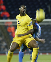 Fotball<br /> Premier League England 2004/2005<br /> Foto: SBI/Digitalsport<br /> NORWAY ONLY<br /> <br /> Blackburn Rovers v Tottenham Hotspur<br /> FA Barclays Premiership.<br /> 04/12/2004.<br /> <br /> Spurs Ledley King Holds of Blackburn's Paul Dickov