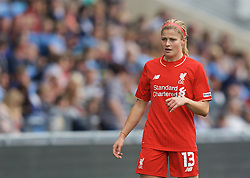 MANCHESTER, ENGLAND - Sunday, August 30, 2015: Liverpool's Rosie White during the League Cup Group 2 match against Manchester City at the Academy Stadium. (Pic by Paul Currie/Propaganda)