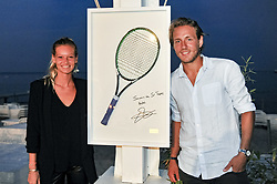 July 22, 2017 - France - Lucas Pouille offre sa raquette lors de la vente aux encheres au profit de l association (Credit Image: © Panoramic via ZUMA Press)