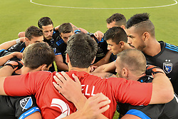 August 29, 2018 - San Jose, California, United States - San Jose, CA - Wednesday August 29, 2018: San Jose Earthquakes huddle during a Major League Soccer (MLS) match between the San Jose Earthquakes and FC Dallas at Avaya Stadium. (Credit Image: © John Todd/ISIPhotos via ZUMA Wire)
