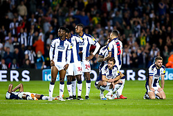 West Bromwich Albion players cut dejected figures after being defeated by Aston Villa on penalties - Mandatory by-line: Robbie Stephenson/JMP - 14/05/2019 - FOOTBALL - The Hawthorns - West Bromwich, England - West Bromwich Albion v Aston Villa - Sky Bet Championship Play-off Semi-Final 2nd Leg