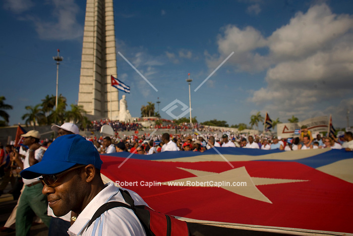 May Day celebration in Havana, Cuba. May. 1, 2008. Photographer: Robert Caplin/Rapport Press