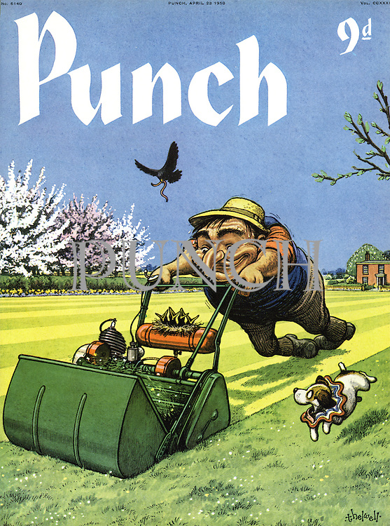 Punch (Front cover, 23 April 1958)