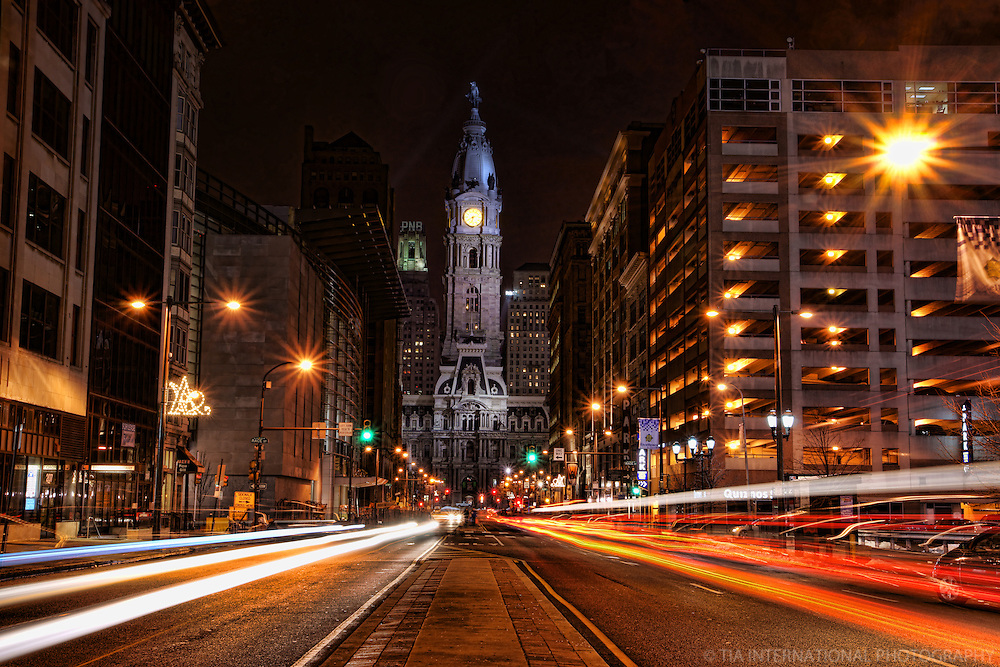 City Hall from Broad Street, Downtown Philadelphia
