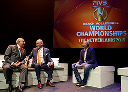 20150626 NED: WK Beachvolleybal openings ceremonie, Den Haag<br /> FIVB President Dr. Ary Graca and Nevobo Voorzitter Hans Nieukerke tijdens de opening van het WK Beachvolleybal in de Koninklijke Schouwburg