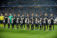 25.11.2015. Malmö, Sweden. <br /> Paris Saint-Germain team before the match against Malmö FF at the Malmö New Stadium. <br /> Photo: © Ricardo Ramirez