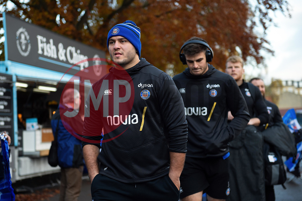 Lewis Boyce and the rest of the Bath Rugby team arrive at the Rec - Mandatory byline: Patrick Khachfe/JMP - 07966 386802 - 16/11/2019 - RUGBY UNION - The Recreation Ground - Bath, England - Bath Rugby v Ulster Rugby - Heineken Champions Cup