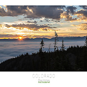 Beautiful large format (30x24) posters ready to print. This shot was taken just outside the 10th Mountain Hut Association Skinner Hut near Leadville, CO.