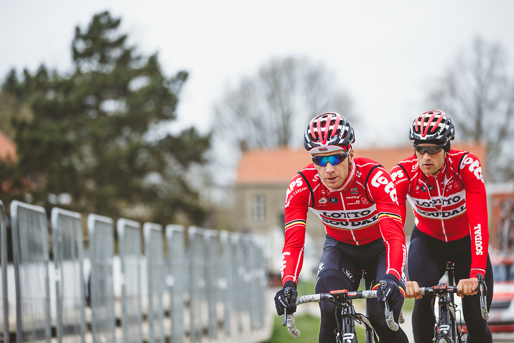 Jurgen Roelandts trains on the parcours ahead of the Ronde van Vlaanderen.  Photo: Iri Greco / BrakeThrough Media | www.brakethroughmedia.com