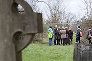 UNITED KINGDOM, London: 02 February 2016 Campaigners from the Save Southwark Woods campaign, remonstrate with council workers and community wardens in Camberwell Old Cemetery. Save Southwark Woods are protesting about tree felling in the cemetery, which they claim is on consecrated and protected land. Rick Findler / Story Picture Agency