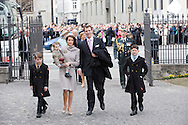 14.04.11. Copenhagen, Denmark.Prince Joachim's, Princess Marie, Prince Felix, Prince Nicolai, Prince Henrikarrival to the Holmens Church to christening ceremony.Photo: Ricardo Ramirez
