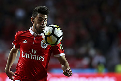 August 9, 2017 - Lisbon, Portugal - Benfica's forward Pizzi controls the ball during the Portuguese League  football match between SL Benfica and SC Braga at Luz  Stadium in Lisbon on August 9, 2017. (Credit Image: © Carlos Costa/NurPhoto via ZUMA Press)