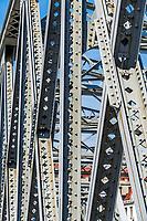 Waibaidu Bridge structure detail in the city of Shanghai China popular republic