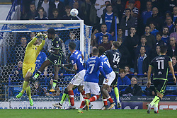 Sam Slocombe of Bristol Rovers punches the ball clear - Mandatory by-line: Jason Brown/JMP - 26/09/2017 - FOOTBALL - Fratton Park - Portsmouth, England - Portsmouth v Bristol Rovers - Sky Bet League One