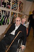 SIR PETER BLAKE, LADY CHRISTINE BLAKE, London Original Print Fair Preview, Royal Academy,  London. 24 April 2019