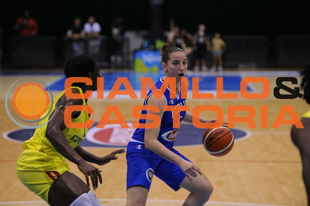 Roma 03.06.2016<br /> Basket Nazionale Italiana Femminile<br /> Torneo  Internazionale di Pomezia<br /> <br /> Italia - Camerun<br /> <br /> Nella foto: Laura Spreafico