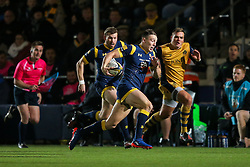 Josh Adams of Worcester Warriors scores a try - Rogan Thomson/JMP - 04/11/2016 - RUGBY UNION - Sixways Stadium - Worcester, England - Worcester Warriors v Bristol Rugby - The Anglo Welsh Cup.