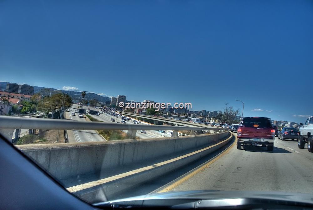Eastbound l-10 Interchange to l-405 North, Traffic, Los Angeles, CA