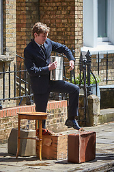 © Licensed to London News Pictures. 19/05/2015. OXFORD, UK. Filming of ITV drama Endeavour, telling the story of the early life of Inspector Morse, taking place in Wellington Square in Oxford.<br /> <br /> In this picture: Shaun Evans (who plays Endeavour Morse)<br /> <br /> Photo credit : Cliff Hide/LNP
