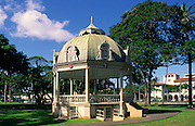Bandstand, Iolani Palace, Honolulu, Oahu, Hawaii USA<br />