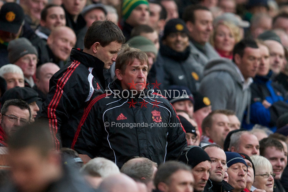 MANCHESTER, ENGLAND - Sunday, January 9, 2011: Liverpool's manager Kenny Dalglish MBE during the FA Cup 3rd Round match against Manchester United at Old Trafford. (Photo by: David Rawcliffe/Propaganda)
