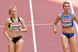 23-08-2015 CHN: IAAF World Championships Athletics day 2, Beijing<br /> Natalia POHREBNIAK UKR, Maja MIHALINEC SLO on the 100m<br /> Photo by Ronald Hoogendoorn / Sportida