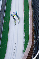 Marinus Kraus from German competes in qualification during FIS World Cup Ski Jumping competition in Wisla, Poland on January 16, 2014.<br /> <br /> Poland, Wisla, January 16, 2014.<br /> <br /> Picture also available in RAW (NEF) or TIFF format on special request.<br /> <br /> For editorial use only. Any commercial or promotional use requires permission.<br /> <br /> Mandatory credit:<br /> Photo by © Adam Nurkiewicz / Mediasport