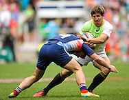 LONDON, ENGLAND - Saturday 10 May 2014, during the match between South Africa and France at the Marriott London Sevens rugby tournament being held at Twickenham Rugby Stadium in London as part of the HSBC Sevens World Series.<br /> Photo by Roger Sedres/ImageSA