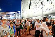 Milan, Italy. Expo 2015, watching the tree of life. Italian Pavillon