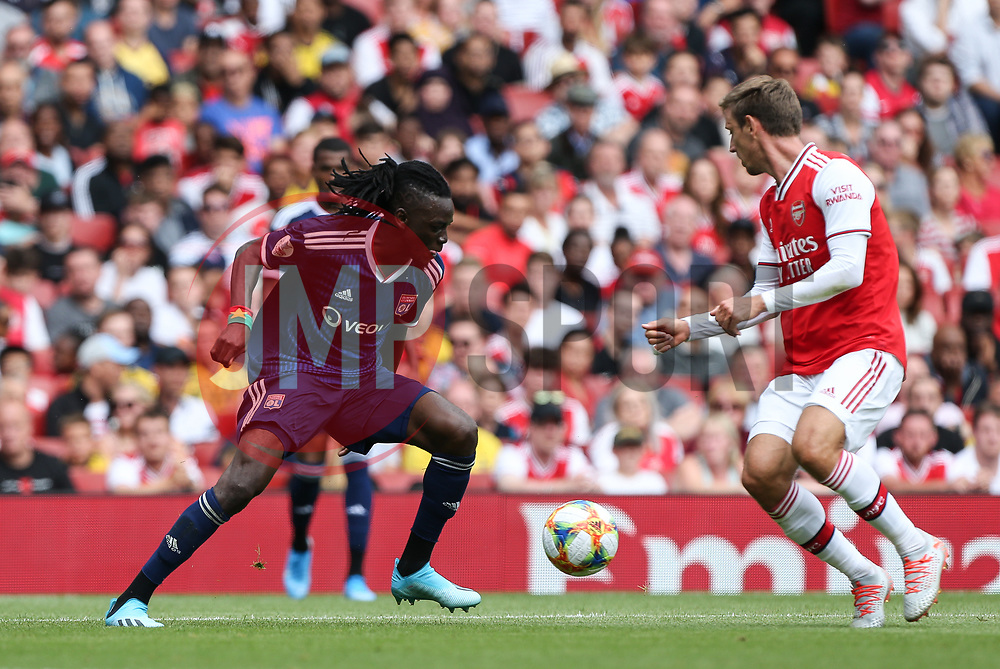 Bertrand Traore of Lyon on the ball - Mandatory by-line: Arron Gent/JMP - 28/07/2019 - FOOTBALL - Emirates Stadium - London, England - Arsenal v Olympique Lyonnais - Emirates Cup