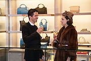 ANDREW ARMSTRONG; ADELLE MILDRED, Smythson Sloane St. Store opening. London. 6 February 2012.