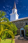 Mokuaikaua Church (Hawaii's first Christian church), Kailua-Kona, Hawaii, USA